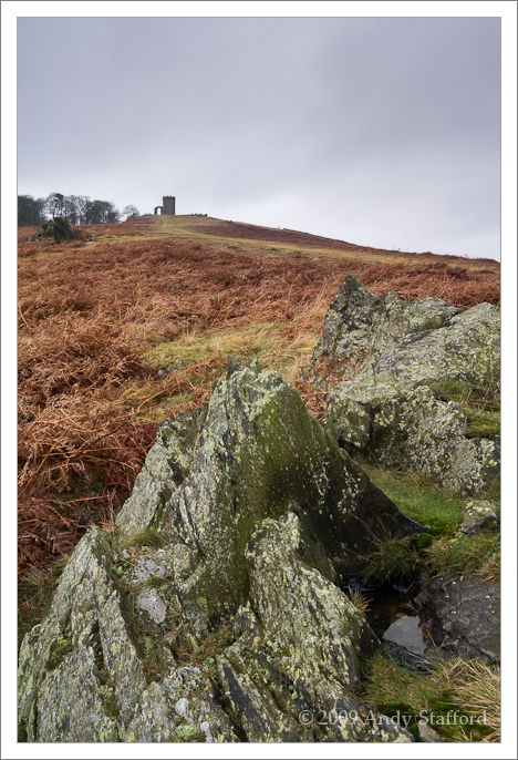 Old John with rocks in the foreground, Bradgate Park