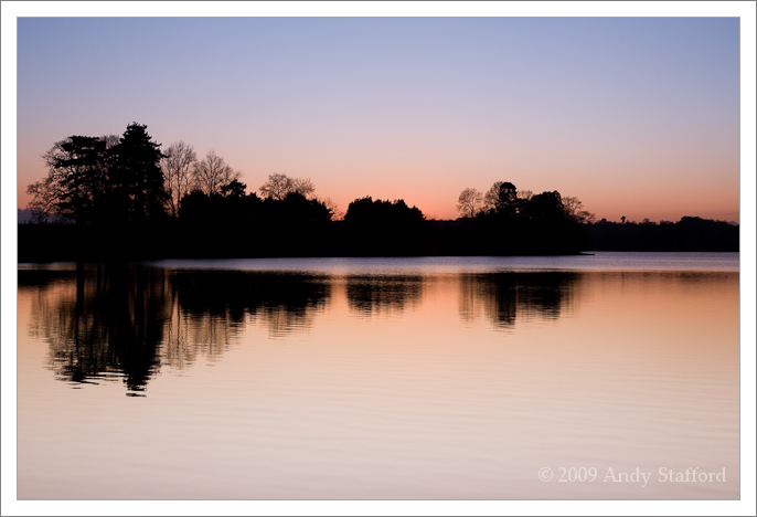 Winter Sunset at Cropston Reservoir, Leicestershire