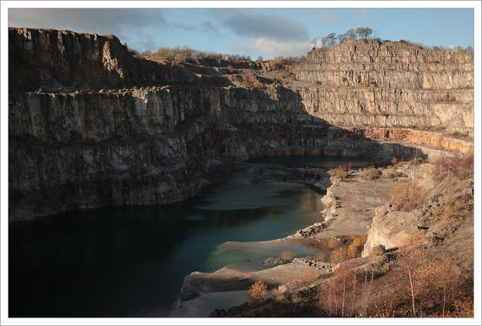 Middle Peak Quarry in shadow