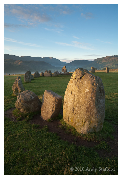 Castlerigg stone circle, Keswick, in early morning sun