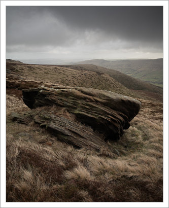 A tilted rock on Kinder