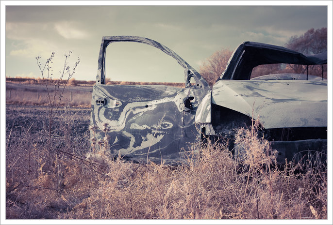 Burnt Out Car, Thurcaston